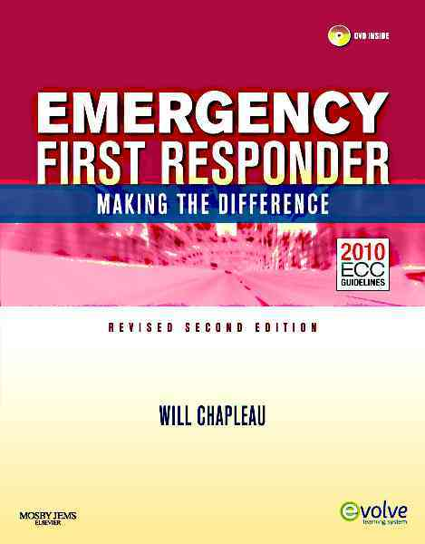 Emergency First Responder By Chapleau, Will
